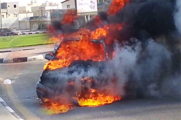 تفحّم طفلين داخل سيارة التهمتها ألسنة النار ببسكرة