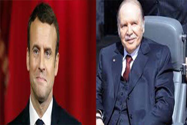 الرئيس الفرنسي إيمانويل ماكرون يجري اتصالا هاتفيا مع بوتفليقة