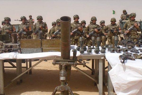 الجيش الجزائري يحجز 43 سلاحا حربيا جنوب البلاد على الحدود مع مالي