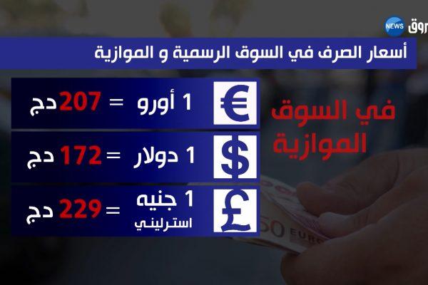 أسعار صرف العملات والخضر والفواكه ليوم الثلاثاء 13 فيفري 2018