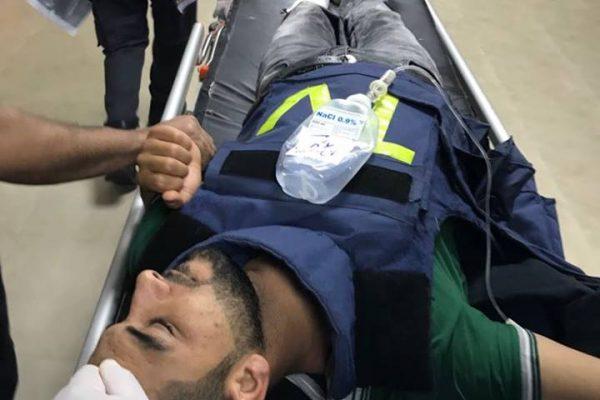 إصابة مصور التلفزيون الجزائري في فلسطين بطلق ناري من طرف قوات الإحتلال