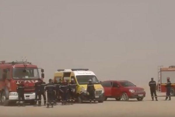 ورقلة: قتيل و جريح في حادث انقلاب حافلة