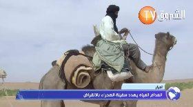 أدرار.. ندرة المياه تهدد الإبل بصحراء برج باجي مختار