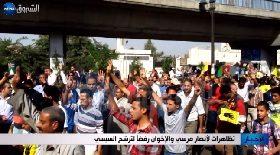 تظاهرات لأنصار مرسي والإخوان رفضا لترشح السيسي