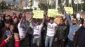 وقفة إحتجاجية أمام مقرأمن دائرة تيزي وزو ضد العهدة الرابعة