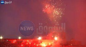 احتفالات إتحاد العاصمة داخل ملعب بولوغين بعد فوزه على مولودية وهران